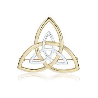 Золота брошка без каміння «Трініті»