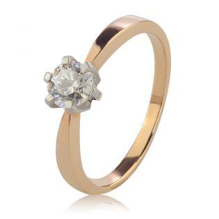 Помолвочное кольцо c большим бриллиантом 0,5 Ct «Рейчел»