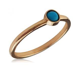 Золотое кольцо с бирюзой «Озера»