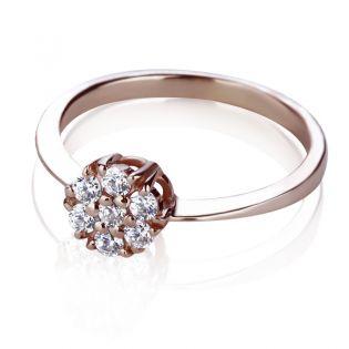 Золотое кольцо с Сваровски «Mystic Flower»