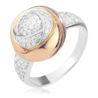 Перстень женский с камнями Сваровски «Роза Дамиано»
