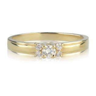 Женское золотое кольцо с бриллиантами «La Tendresse»