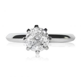 Элитное кольцо на помолвку с 5 бриллиантами «Touch of love»