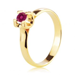 Золотое кольцо с рубином «Bright Star»