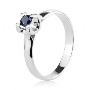 Золотое кольцо с черным сапфиром «Bright Star»