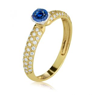 Кольцо золотое для помолвки с гидросапфиром «Raffaella»