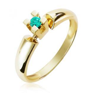 Золотое кольцо с изумрудом «Alonsa»