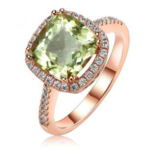 Золотое кольцо с крупным бериллом «Исабель»