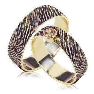 Эксклюзивные парные обручальные кольца «Вечные ценности»