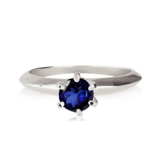 Помолвочное кольцо солитер с сапфиром 0,5 Ct «Ellis»