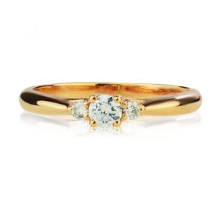 Кольцо золотое на помолвку с камнями Сваровски «Марина»