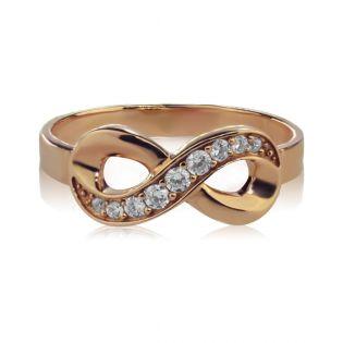 Кольцо с бриллиантами и знаком бесконечность «Infinity»