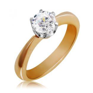 Классическое кольцо для помолвки с бриллиантом 0.5 карат «Мечта»