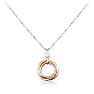 Золоте кольє з діамантом «Трініті»