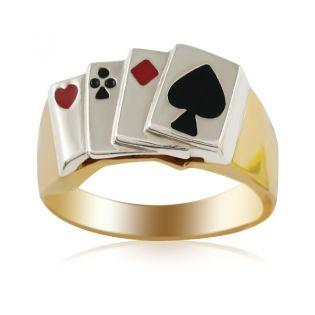 Золотое кольцо для карточного игрока «Козырный Туз»