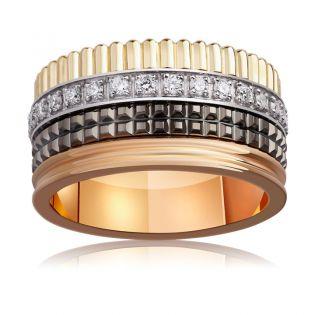 Обручальное широкое кольцо в стиле Boucheron с бриллиантами «VIP»