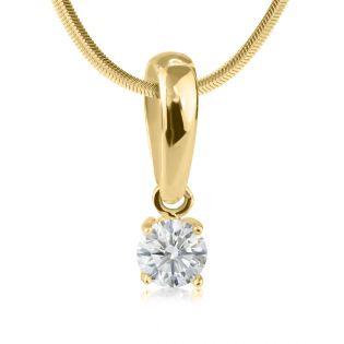 Золотой кулон с одним бриллиантом 0.25 Ct «Retba»