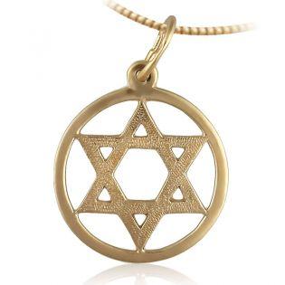Золотой кулон «Маген Давид»