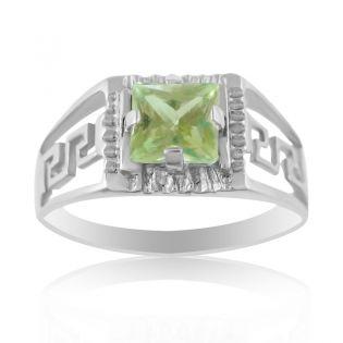 Золотой перстень с квадратным бериллом «Меандр»