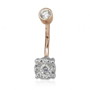 Пирсинг в пупок с бриллиантами «Фиона»