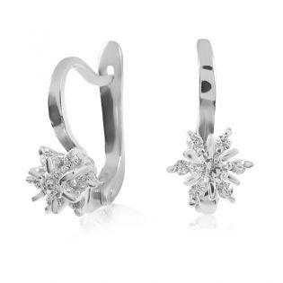 Діамантові кульчики із золота «Франсуаза»