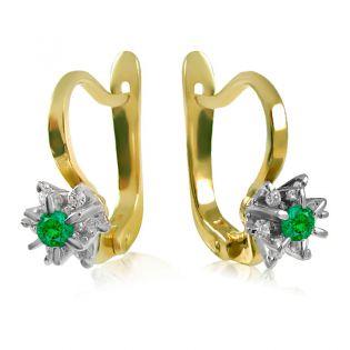 Серьги с зеленым гранатом и бриллиантами «Франсуаза»