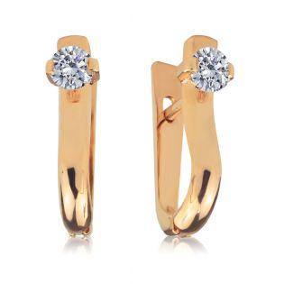 Золотые серьги с бриллиантами 0,5 Ct «Любимая моя»