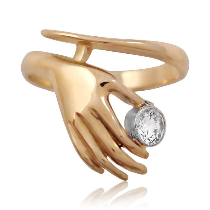 Золоте кільце «Рука і серце»