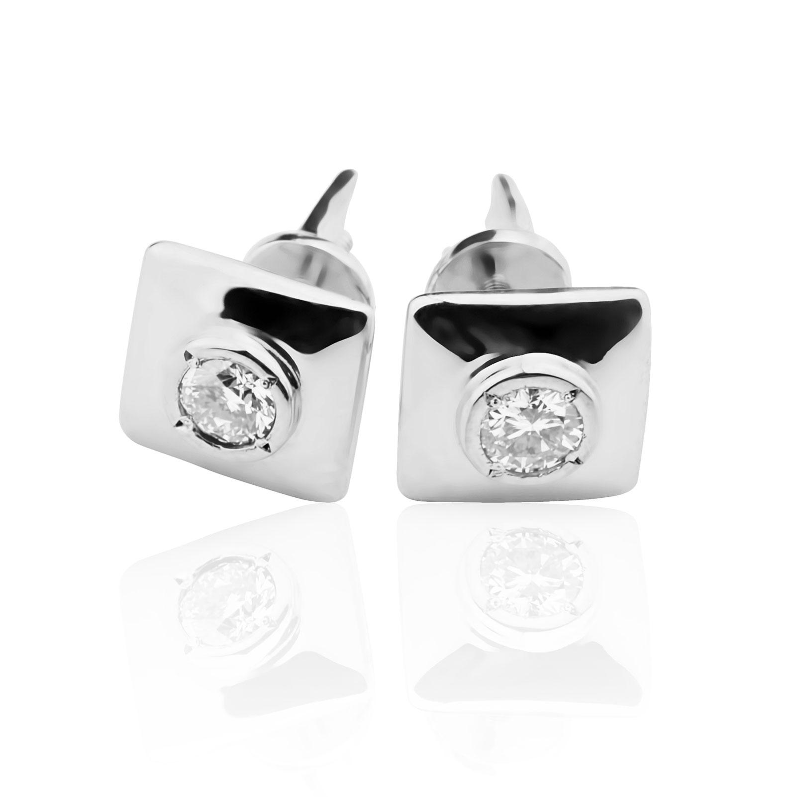 Золоті сережки з діамантами «Класика»