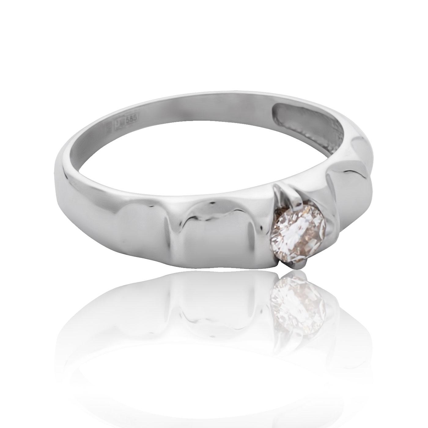 Золотое кольцо с бриллиантом 0.22 карата «Адамант»