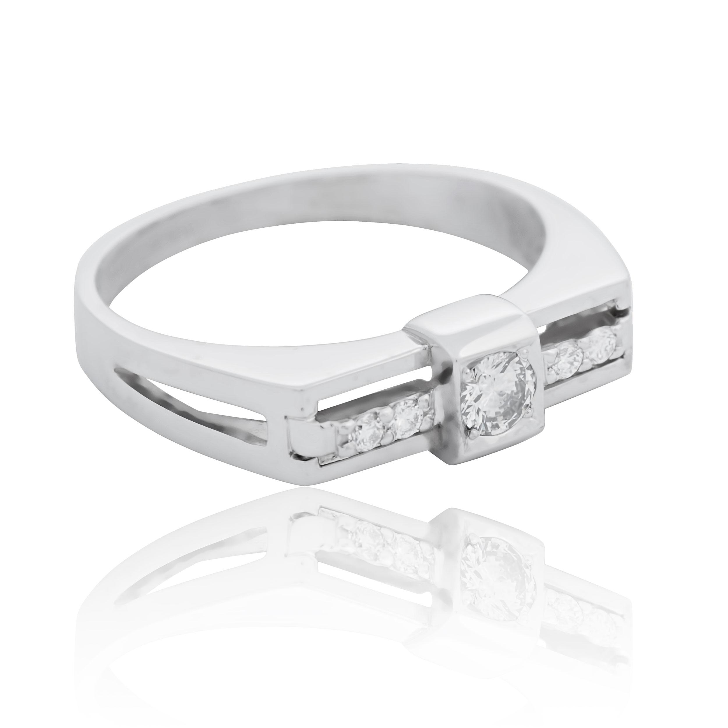 Золотий  перстень для чоловіка з діамантом 0.18 Ct «He is...»