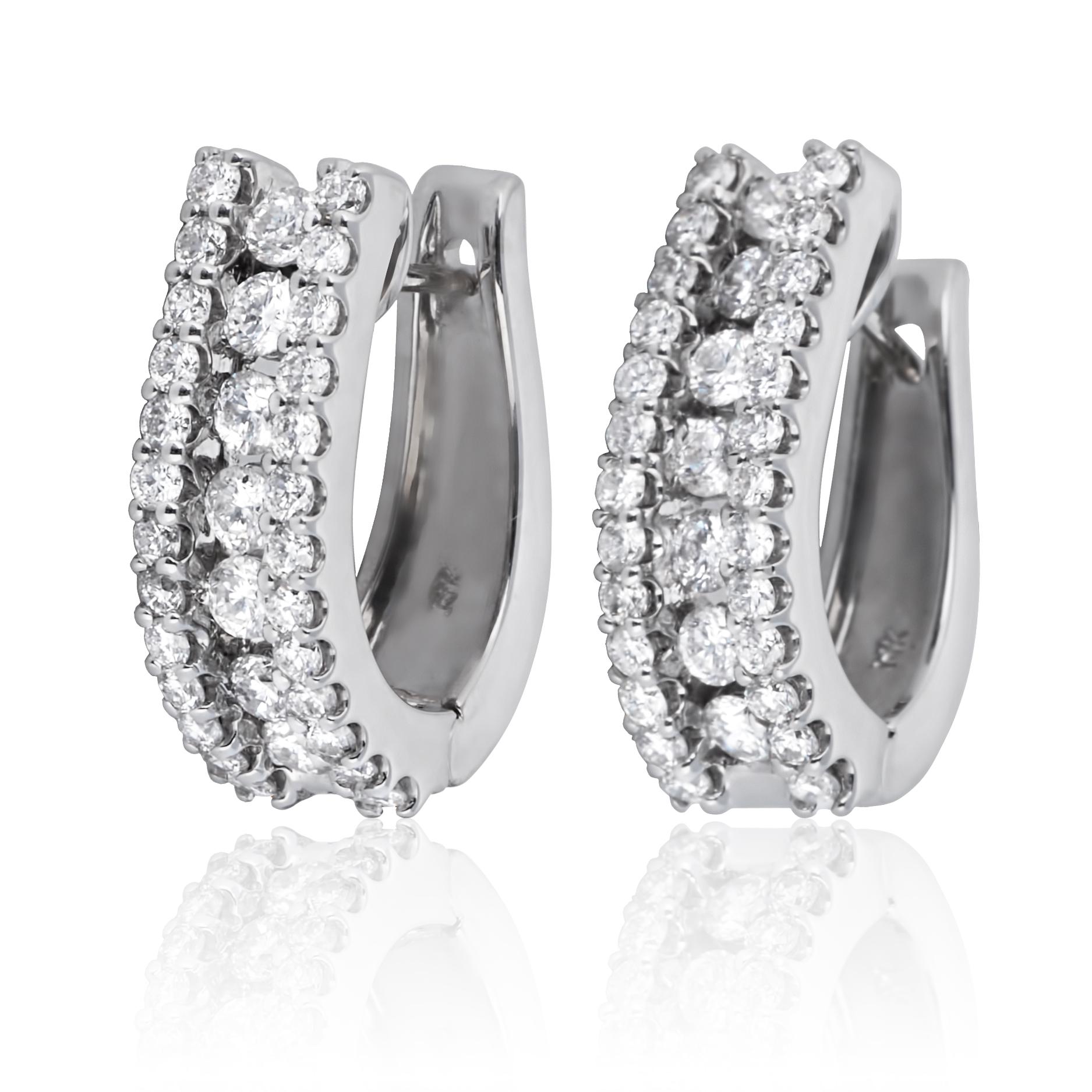 Золоті сережки з діамантами «Світське життя»