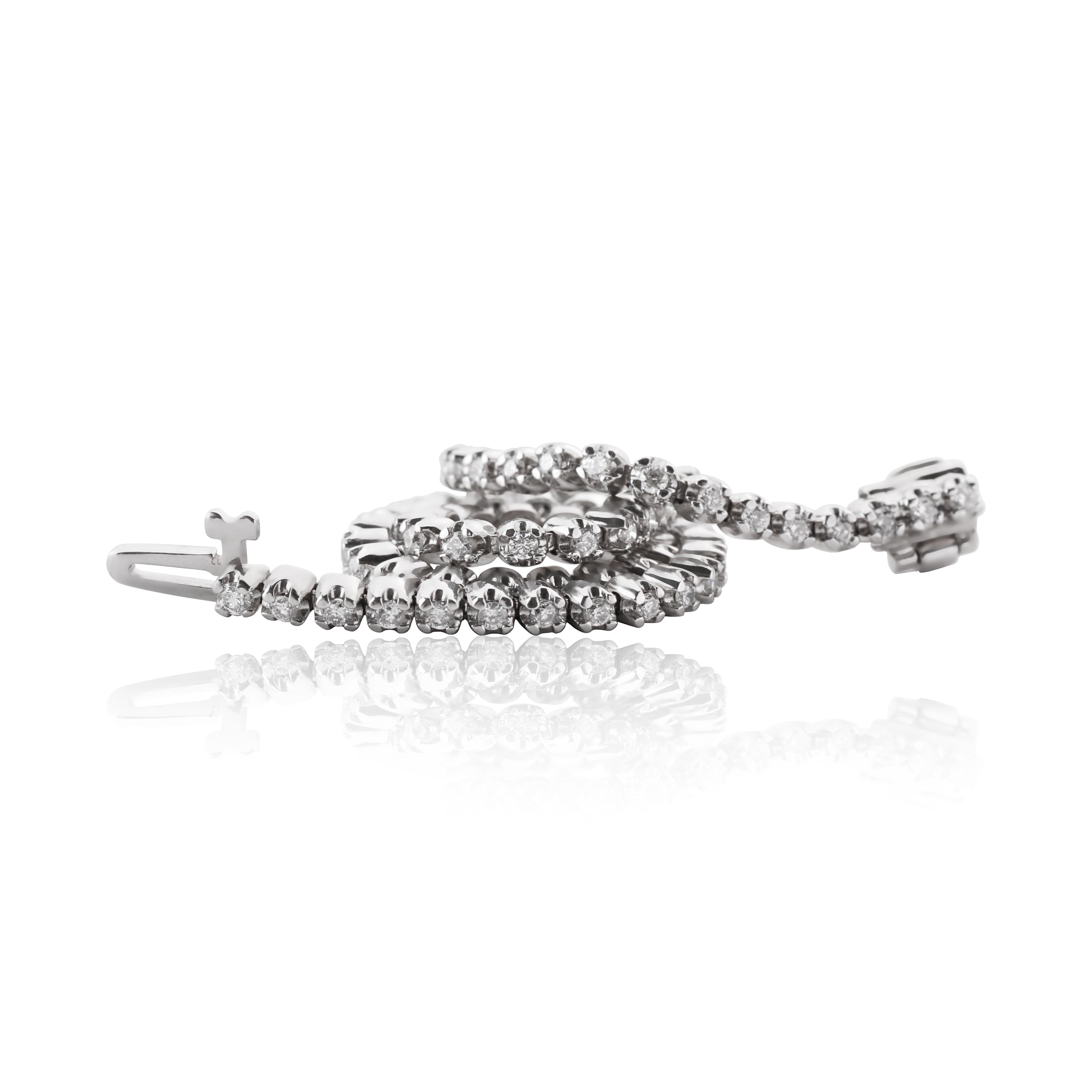 Золотий браслет з діамантами «Олівія»