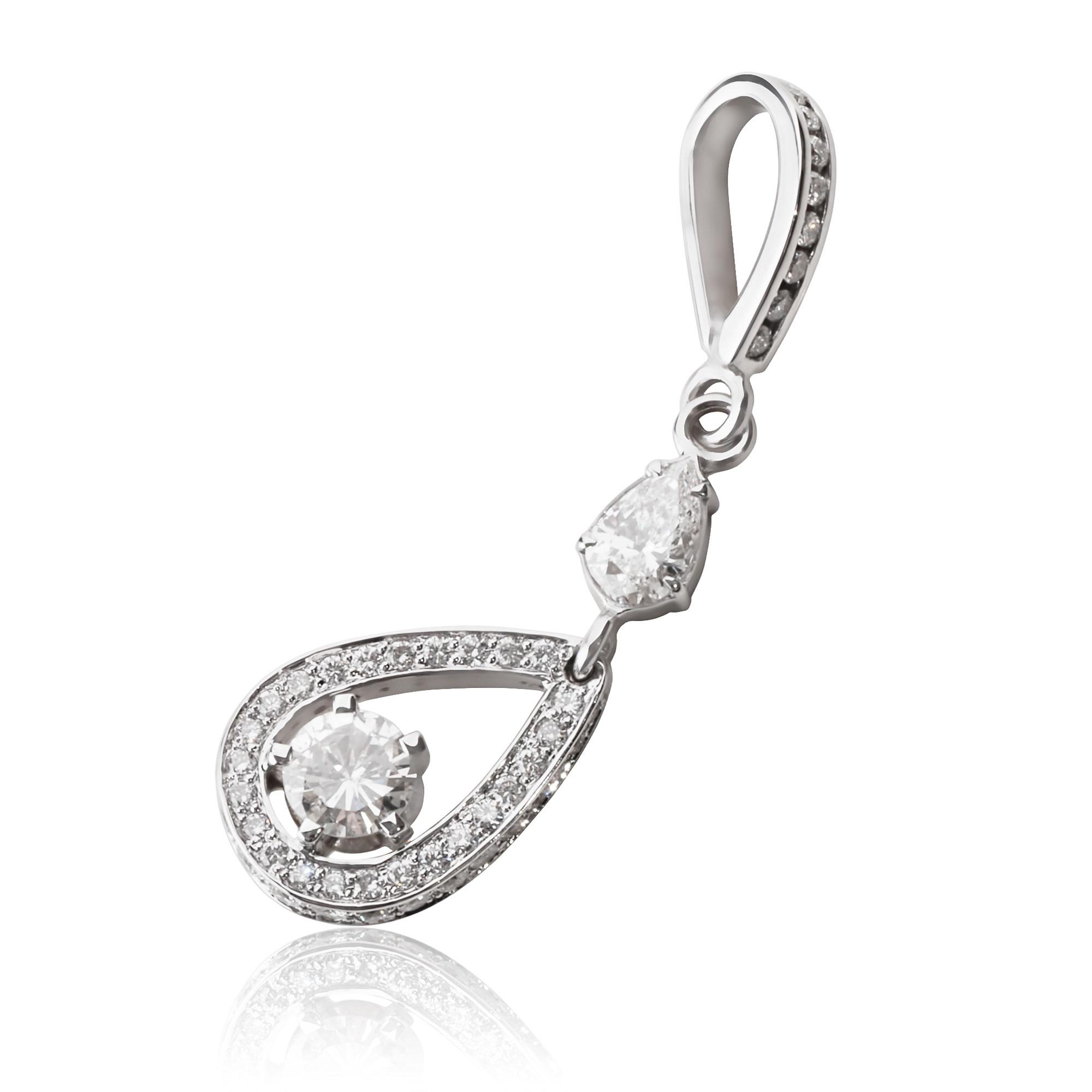 Золотий кулон з діамантами «Мопасо»