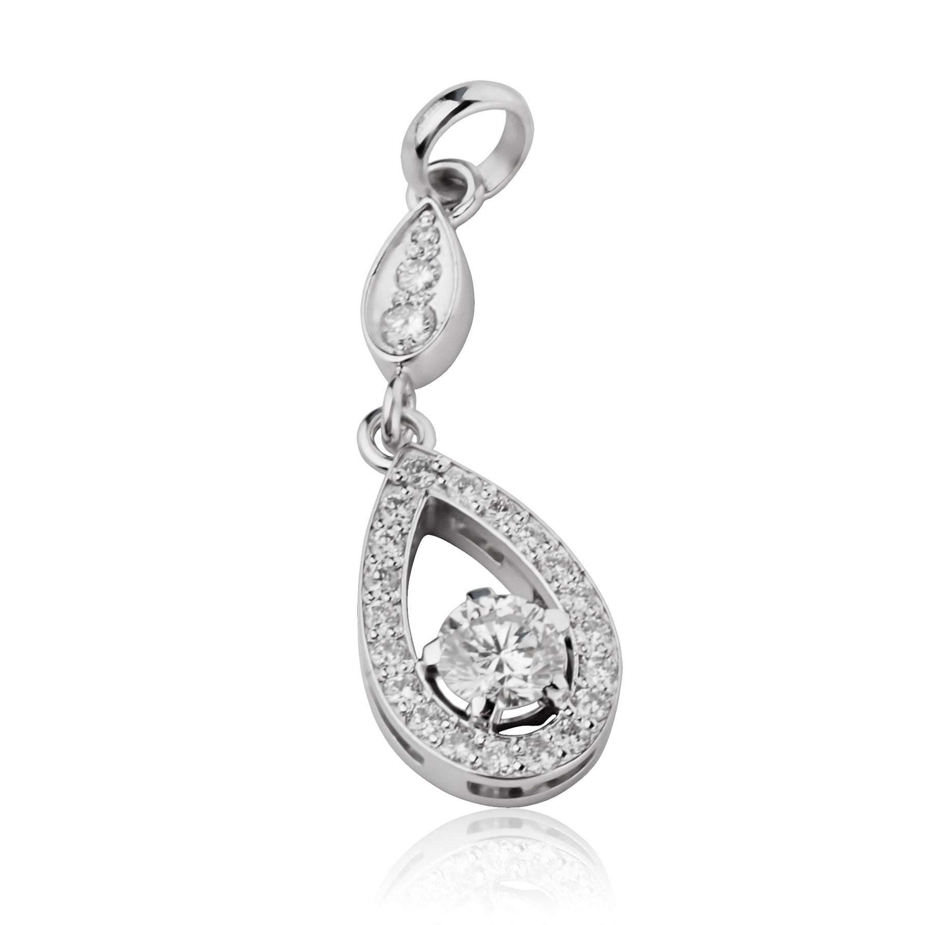 Золотой кулон с бриллиантами «Camellia»