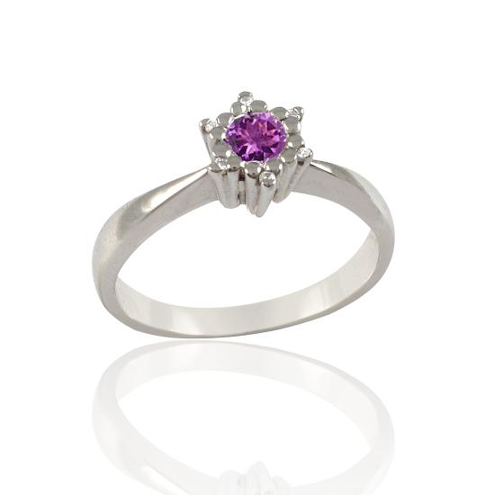 Перстень золотий з аметистом «Царівна Будур»