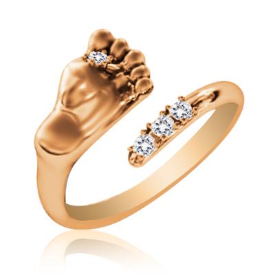 Золота каблучка з цирконієм