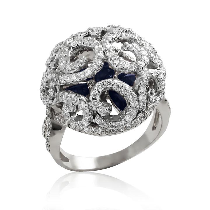 Золотое кольцо «Сапфировая Императрица»