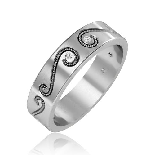 Обручальное золотое кольцо «Best love»