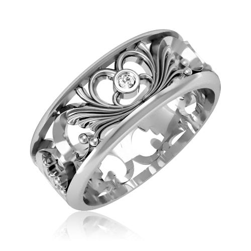 Обручальное кольцо с бриллиантамм «Tender love»