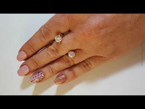 Золоті сережки пусети з топазами «Мальді»