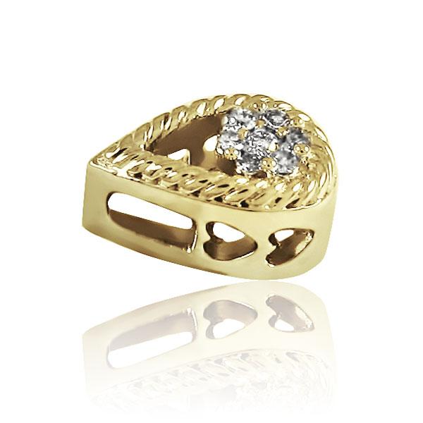 Золотий кулон з діамантами «Діамантова крапля»