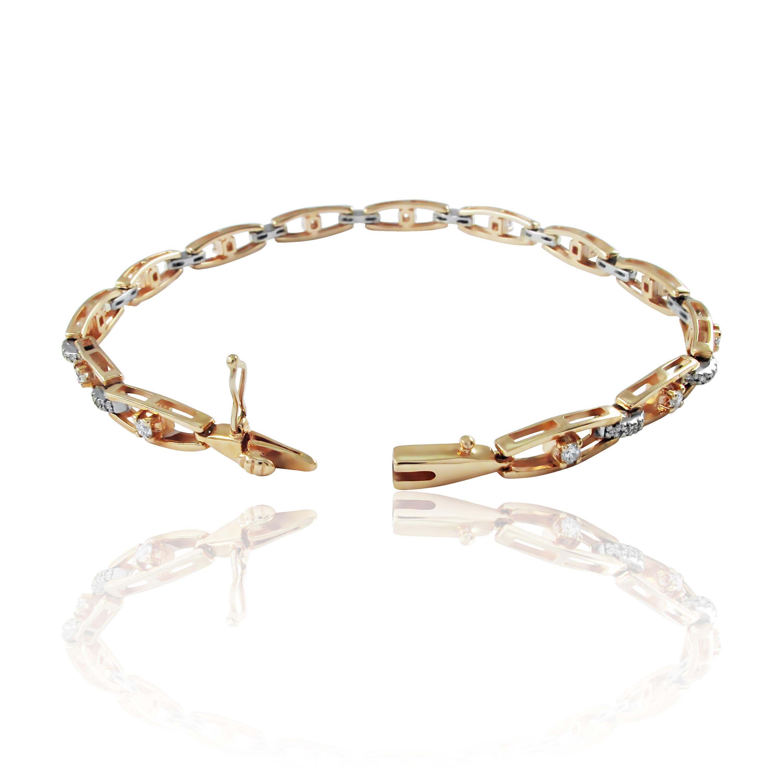 Золотий браслет з діамантами «Diamond Eyes»
