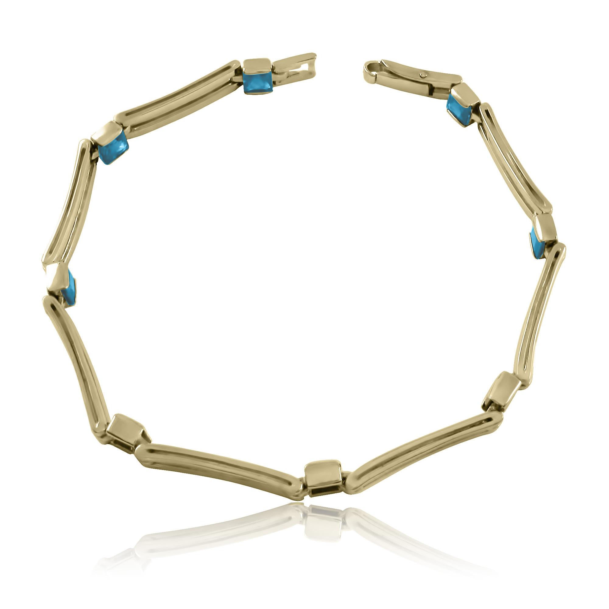 Золотой браслет с топазами «Фетида»