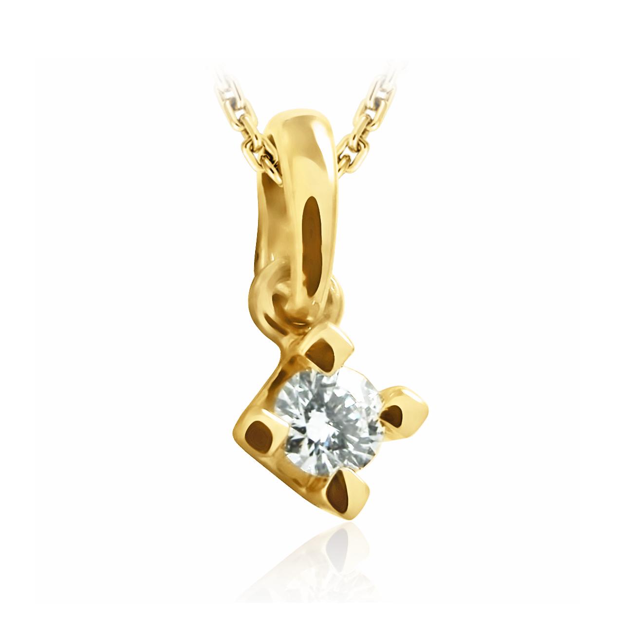 Кулон з діамантом