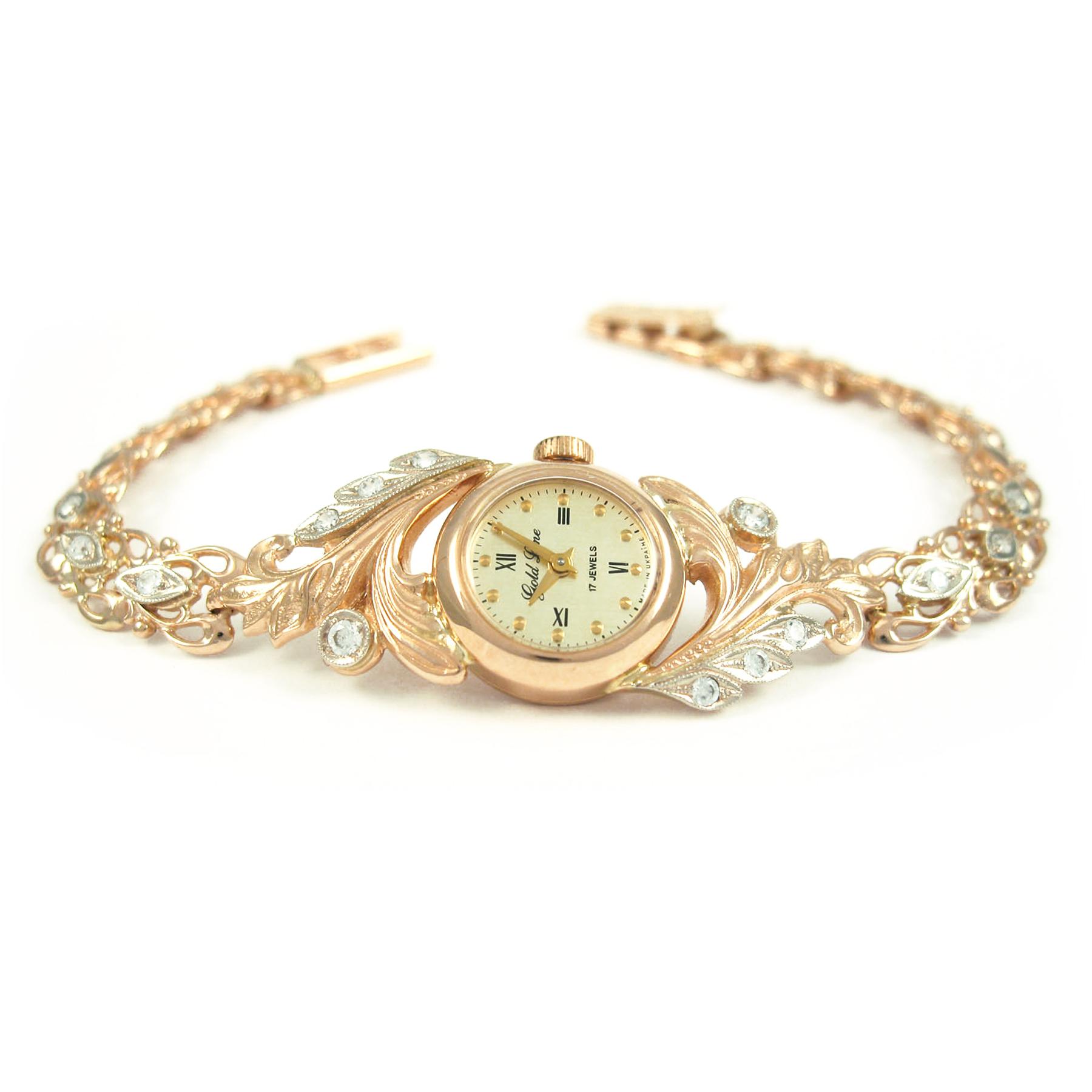 Золотий жіночий годинник «Ніжність»