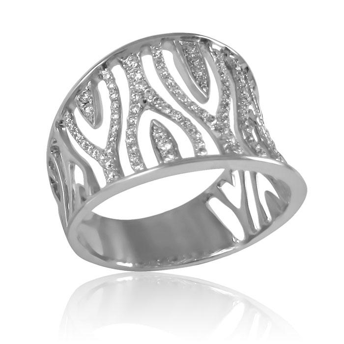 Золотий перстень з діамантами «Діамантове мереживо»