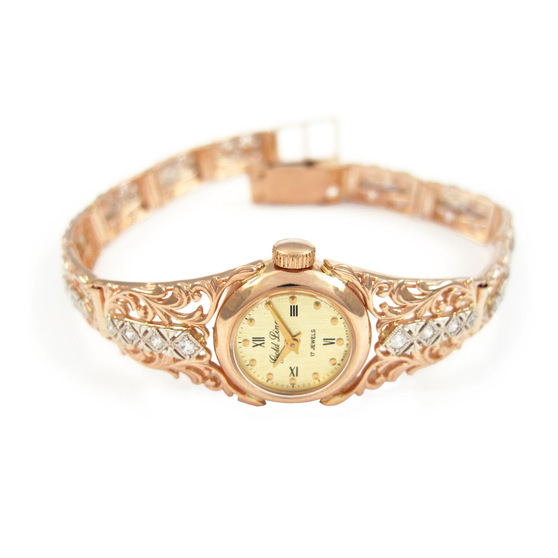 Золотий жіночий годинник «Вінтаж»