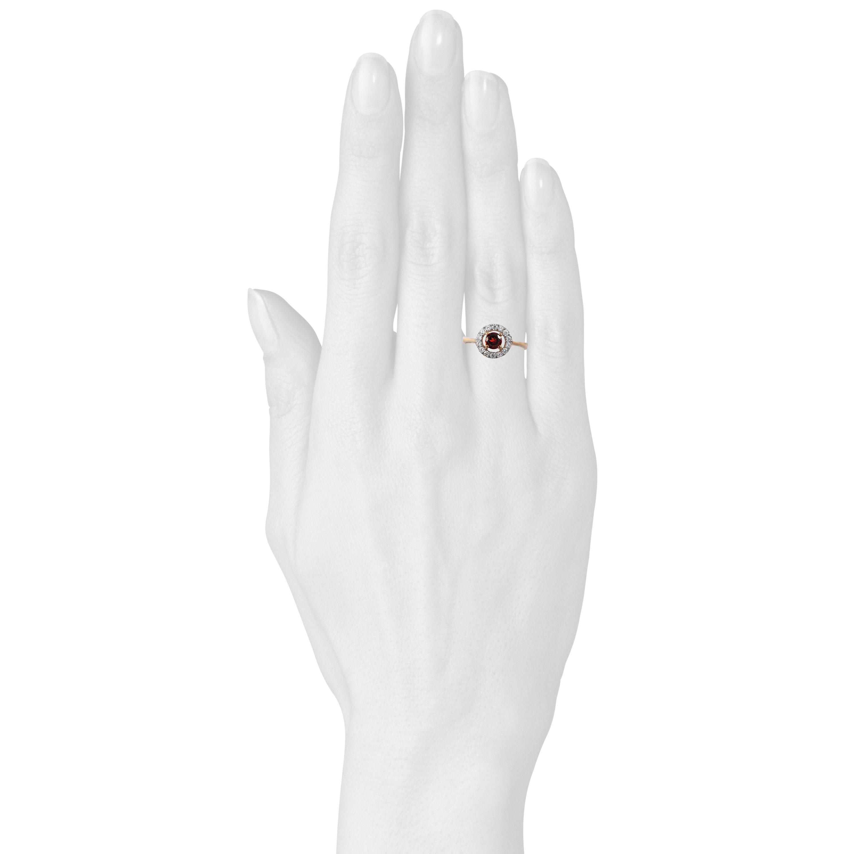Золотое кольцо с гранатом «Валенсия»