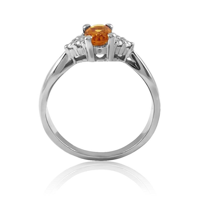 Золотое кольцо с цитрином «Икона стиля»
